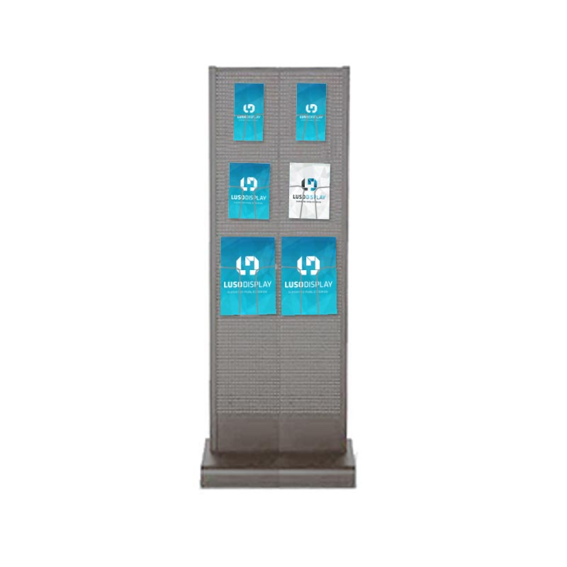 Expositor Basic Tower 460 Cinza Dupla Face