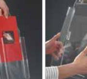 Expositor Catálogos MONOBLOK em Acrílico, 90cm - A4
