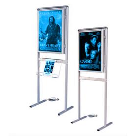 Infoboard com iluminação