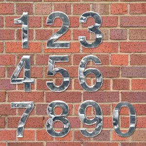 Números Para Entradas Cromados – 0 A 9