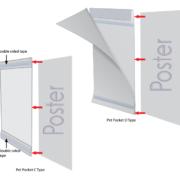 Porta-Folheto Pet-Pocket, Tipo C, Paisagem