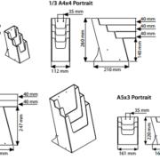 Porta Folhetos de Mesa Multiple em Acrílico