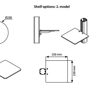 Prateleiras Para Sistema FREESTANDING Rectangulares Ou Redondas