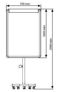 Quadro Flipchart Profissional Ajustável, Magnético Branco