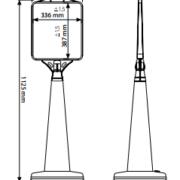 Sinalética de Piso com Base de Água - Raket Pirâmide