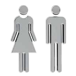 WC Simbolos - Prata