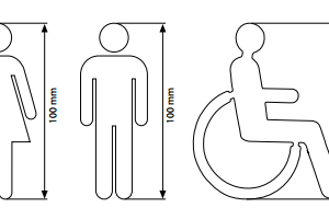 WC Simbolos - Cinza