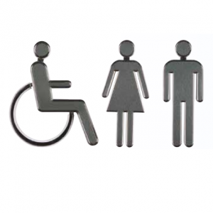 WC Símbolos – Cinza
