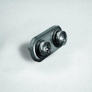 Acessório conector FREESTANDING C/ 2 parafusos para Molduras Acrilico e Metal